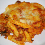 Beef Pasta Bake with Tomato Sauce